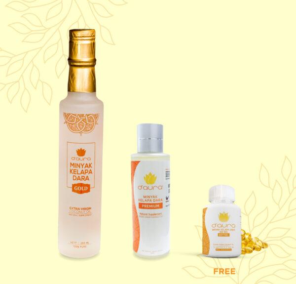 D'Aura VCO Gold Liquid Premium Free Softgelai