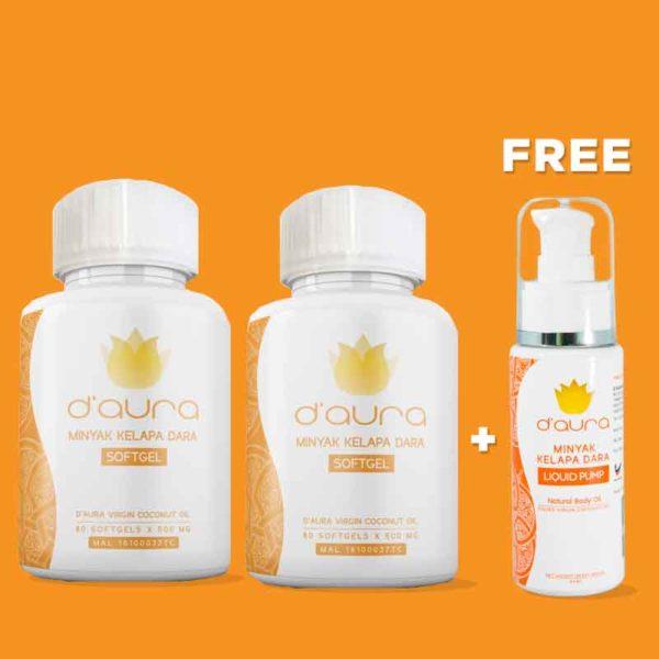 D'Aura minyak kelapa dara capsule malaysia mudah bersalin tips ibu hamil 2 1