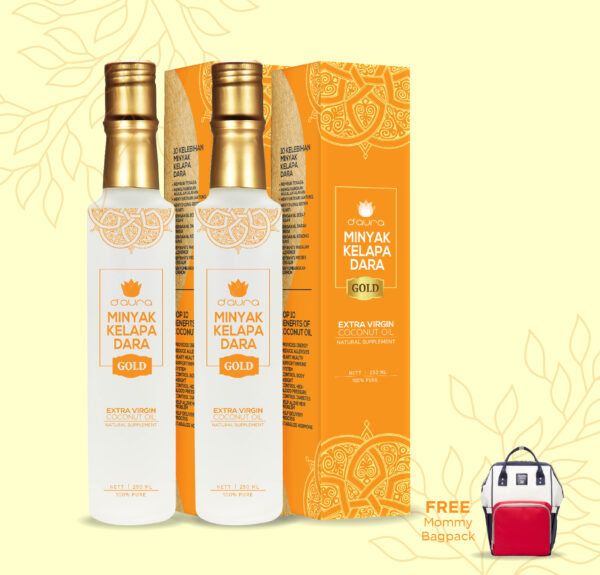 D'Aura 2 VCO Gold free mommy bagpackl