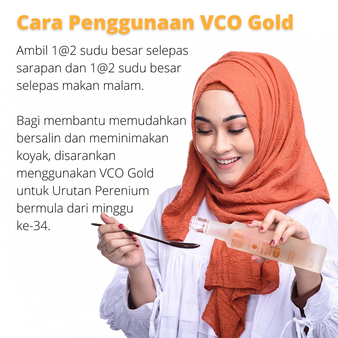 D'Aura Cara Penggunaan VCO Gold